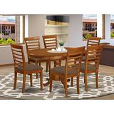 7 PC Dining room set for 6-Oval Dining Table with Leaf with 6 Dining Chairs.