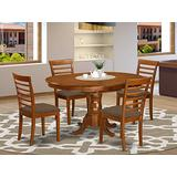 5 PC Dining room set for 4-Oval Dining Leaf with 4 Dining Chairs.