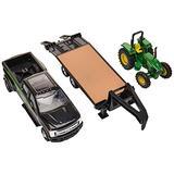 TOMY John Deere Tractor & Ford Pickup with Gooseneck Trailer