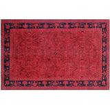 """Noori Rug Hand Knotted Area Rug 6'0"""" x 9'5"""" Pink/Blue"""