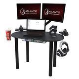 Atlantic Gaming Original Gaming Desk - Eclipse Space Saver, Controller & Headphone Storage, Speaker Shelves, Carbon Fiber Desktop