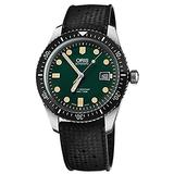 Oris Divers Sixty-Five Green Dial 42mm Men's Watch with Black Rubber Strap 73377204057RS