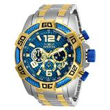 Invicta Men's Pro Diver Stainless Steel Quartz Stainless-Steel Strap, Two Tone, 26 Casual Watch (Model: 25855)