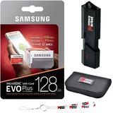 Samsung 128GB MicroSD XC Class 10 Grade 3 UHS-3 Mobile Memory Card (MB-MC128GA) with Ultra high Speed USB 3.0 MemoryMarket MicroSD & SD Memory Card Reader, Memory Card Wallet and Lanyard