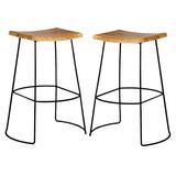 Carolina Chair & Table Hadley 30-Inch Saddle Seat Bar Stool
