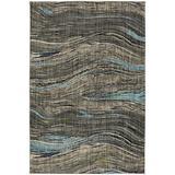 Mohawk Muse Amos Lagoon Wavy Striped Woven Area Rug, 8'x11', Gray