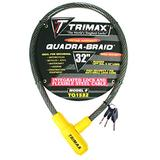 """Trimax TQ1532 Trimaflex Integrated Keyed Cable Lock (32"""" Length x 15mm)"""