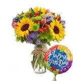 Birthday Brights Bouquet - Same Day Birthday Flowers Delivery - Online Birthday Gifts - Birthday Present Ideas - Happy Birthday Flowers - Birthday Party Ideas