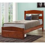 Merax. Wood Platform Bed Frame with Storage/Headboard/No Box Spring Needed/Wooden Slat Support/Walnut