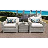 TK Classics Fairmont 3 Piece Outdoor Wicker Patio Furniture Set 03a Beige