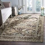 Safavieh Izmir Collection IZM175A Hand-Knotted Traditional Premium New Zealand Wool Area Rug, 8' x 10', Charcoal / Stone