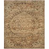 Safavieh Izmir Collection IZM178A Hand-Knotted Traditional Premium New Zealand Wool Area Rug, 8' x 10', Gold / Rose