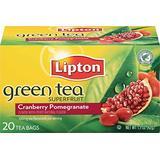 Lipton Tea Cranberry Pomegranate Green Tea, 20 Count (Pack of 6)