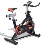 Costway Indoor Fixed Aerobic Fitness Exercise Bicycle with Flywheel and LCD Display