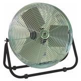 """TPI F-12-TE 12"""" Industrial Floor Fan w/ (3) Speeds - Steel, 120v"""