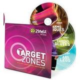 Zumba Target Zones 3-DVD set (Abs & Legs - Cardio & Glutes - Arms & Obliques)