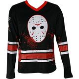 Changes Friday The 13th Jason Voorhees Faux Hockey Jersey, Medium Black