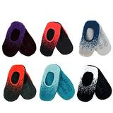 BambooMN Brand - Super Soft Warm Cozy Fuzzy Gradient Comfort Slippers - Assortment 6A, Size M, 6 Prs