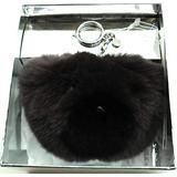 Michael Michael Kors Teddy Bear Pom Fur Key Chain Toy Fob Bag Charm (Cinder)