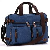 Great Backpack/Briefcase Combo for Airline Travel, Coffee shop stop or Trip to your Accounant or Lawyer's Office with your Yocs or Books for Men,Women (15.6 inch, Vintage Blue)