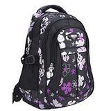 MAYZERO School Backpacks Waterproof School Bags Durable Travel Camping Backpacks for Boys and Girls (3 Black)