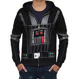 Starwar Costume Hoodie For Men - Adult Darth-Vader Zip Up Mens Hoodie by Miracle (Small) Black