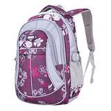 MAYZERO School Backpacks Waterproof School Bags Durable Travel Camping Backpacks for Boys and Girls (3 Purple)