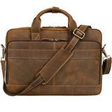 """Jack&Chris Men's Genuine Leather Briefcase Messenger Bag Attache Case 14"""" Laptop, MB005B"""