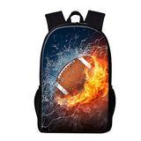 Dispalang Soccer Backpack for Boys Teenagers Football Printed Bookbag Cool Back pack Traveling Bags