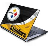 Skinit Decal Laptop Skin Compatible with Generic 12in Laptop (10.6in X 8.3in) - Officially Licensed NFL Pittsburgh Steelers Design