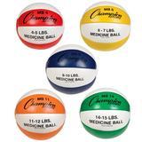 Champion Sports Leather Medicine Ball Set of Five