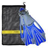 U.S. Divers FA328O4015L Proflex FX Snorkeling Set Size Large Mens & Womens Diving Fins with Mesh Carry Bag, Blue