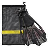 U.S. Divers FA278O1201L Proflex FX Snorkeling Set Size Large Mens & Womens Diving Fins with Mesh Carry Bag, Titanium Gray