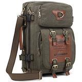 KAUKKO Outdoor Travel Men Backpack Hiking Camping Canvas Rucksack (Canvas Amygreen)