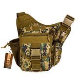 DYJ Multi-functional Tactical Camera Messenger Bag, Military Shoulder Sling Backpack EDC Pack for Hiking Camping Trekking Cycling