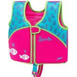 Speedo Girl's Neoprene Swim Vest, Pink and Aqua- Size Medium