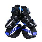 Joyfay Black and Blue Unisex Fitness Jump Shoes Bounce Shoes XL