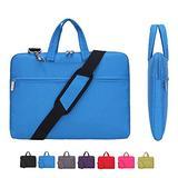 Laptop Case, Laptop Shoulder Bag, CROMI Simplicity Slim Lightweight Briefcase Commuter Bag Business Sleeve Carry Hand Bag Nylon Waterproof Notebook Shoulder Messenger Bag (Blue, 15.6 inch)
