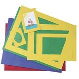 Pacon Pre-Cut Mat Frame, Assorted Size, Assorted Color, Pack of 60