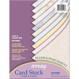 "Pacon Marble & Parchment Card Stock Assortment, 10 Colors, 8-1/2"" x 11"", 250 Sheets"