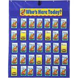 """Carson Dellosa Daily Attendance Pocket Chart—Interactive Attendance and Absentee Roster with Student Name Cards, Daycare and Classroom Management (38"""" x 30"""")"""