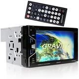 "Gravity VGRD-800BT Double DIN Bluetooth DVD/CD/AM/FM Car Stereo w/ 6.2"" Digital LCD TFT Touchscreen"