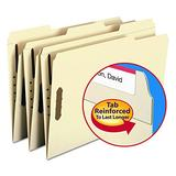 Smead 100% Recycled Fastener File Folder, 2 Fasteners, Reinforced 1/3-Cut Tab, Legal Size, Manila, 50 per Box (19547)