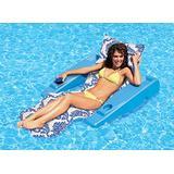 Poolmaster Swimming Pool Adjustable Floating Chaise Lounge, Royal Hawaiian, Blue