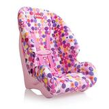 Joovy Toy Booster Seat, Doll Accesory, Multi-doll Design, Pink Dot, 11.2 x 12.5 x 20.3