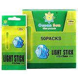 QualyQualy Fishing Glow Sticks for Bobbers, Fishing Bobber Lights, Fishing Rod Bell Alarm Lights, Bobber Glow Sticks 7.5x75mm 50 Packs