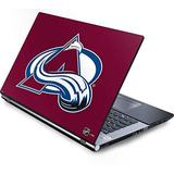Skinit Decal Laptop Skin Compatible with Generic 17in Laptop (15.2in X 9.9in) - Officially Licensed NHL Colorado Avalanche Solid Background Design