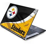 Skinit Decal Laptop Skin Compatible with Generic 17in Laptop (15.2in X 9.9in) - Officially Licensed NFL Pittsburgh Steelers Design