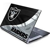 Skinit Decal Laptop Skin Compatible with Generic 17in Laptop (15.2in X 9.9in) - Officially Licensed NFL Las Vegas Raiders Design