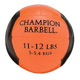 Champion Barbell Medicine Ball, 11-12 lb. - Orange